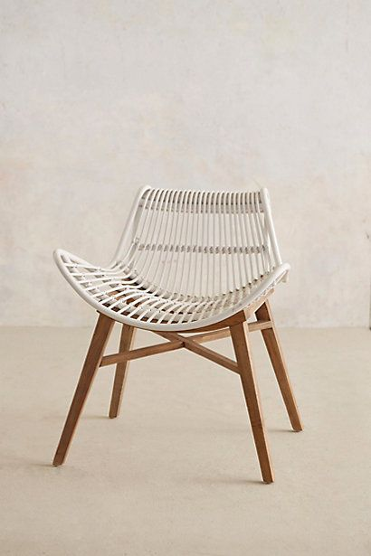 Scrolled Rattan Chair
