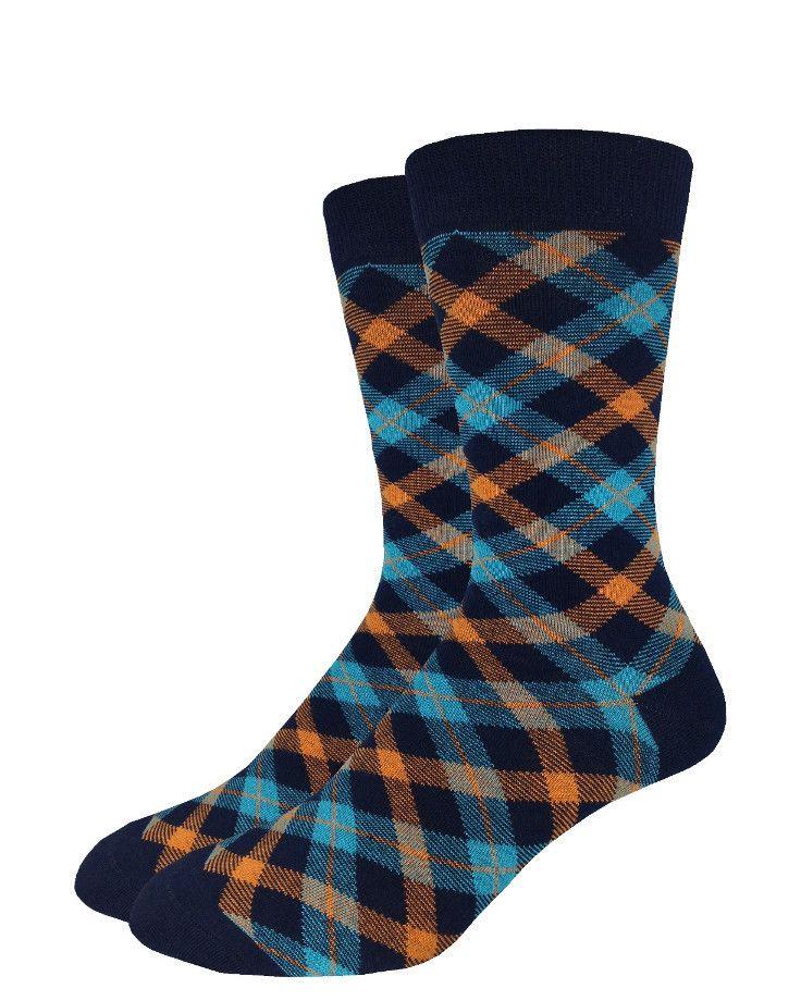 Aqua Plaid | Good Luck Sock | goodlucksock.com #socks