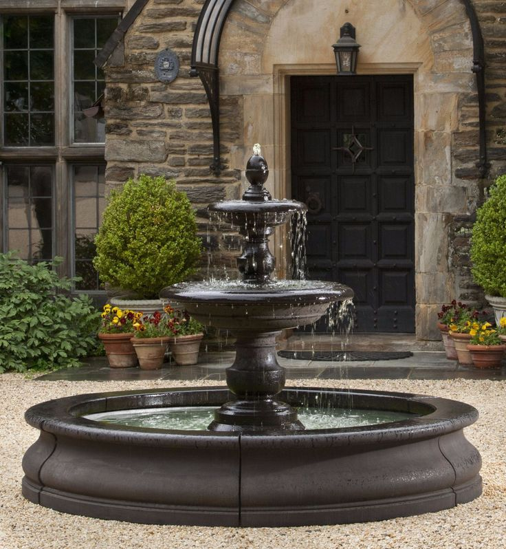 Caterina Outdoor Water Fountain in Basin