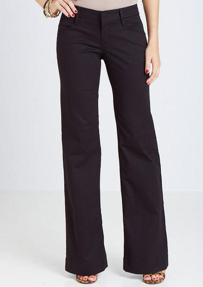 Stretch Twill Clean Front Trouser - View All Pants - Pants - Clothing - Alloy Apparel