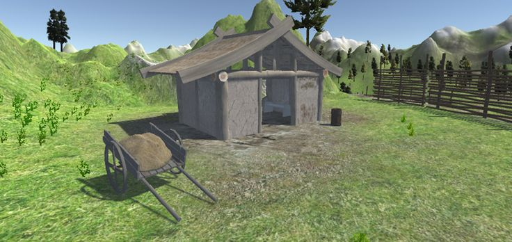 Medieval village. This product is available for download now! 	 	3D Models of medieval village with houses and many small assets. 	This village i...