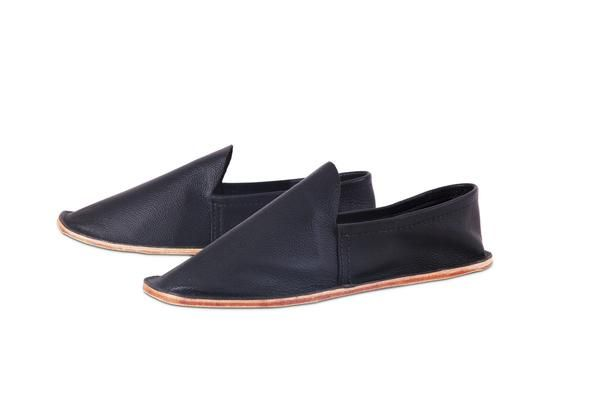 Leather House Shoe- Men's Black – aemcateer