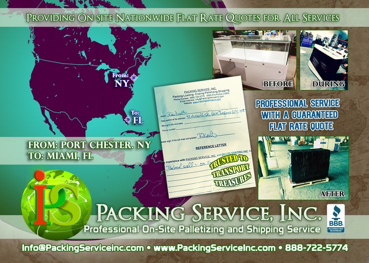 Palletizing is the safest way to transport your large or bulky items! Packing Service, Inc. provides experienced white glove professionals to carefully #Palletize, #Shrink #Wrap Palletize and ship your items domestically or internationally. Visit www.PackingServiceInc.com or Email us at: Info@PackingServiceInc.com