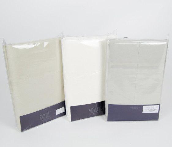 Completo letto Bisso Percalle 100 % cotone STONE WASHED By SOGNO BLU - Punto Bianco