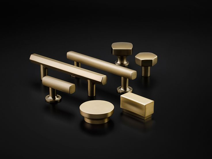 Urban Modern Cabinet Hardware Collection. Available in Satin Brass, Oil Rubbed Bronze, Polished Nickel, Satin Nickel, and Polished Chrome.  Geometric and modern cabinet hardware for your kitchen, bathroom or closets!