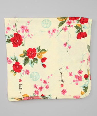 Take a look at this Yellow Vintage Asian Blanket by Mad Sky on @zulily today!