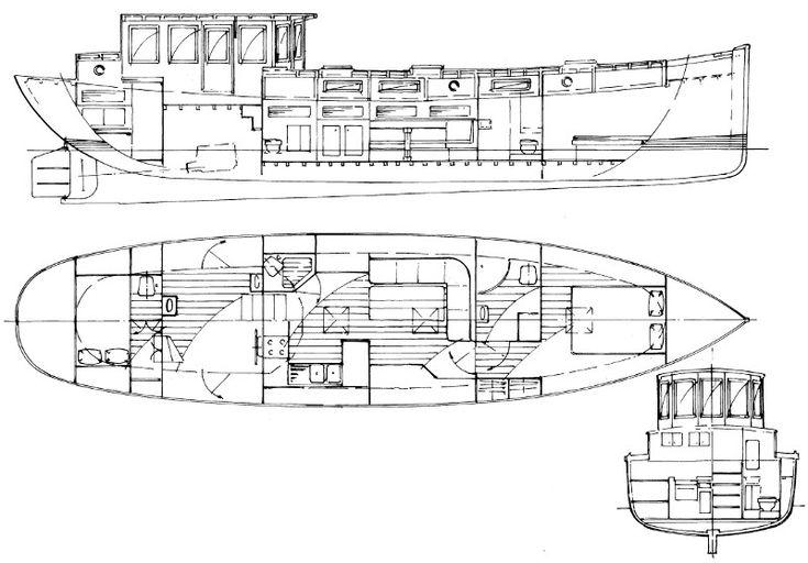 Marlow 27 boat design wooden boat plans wood boat plans