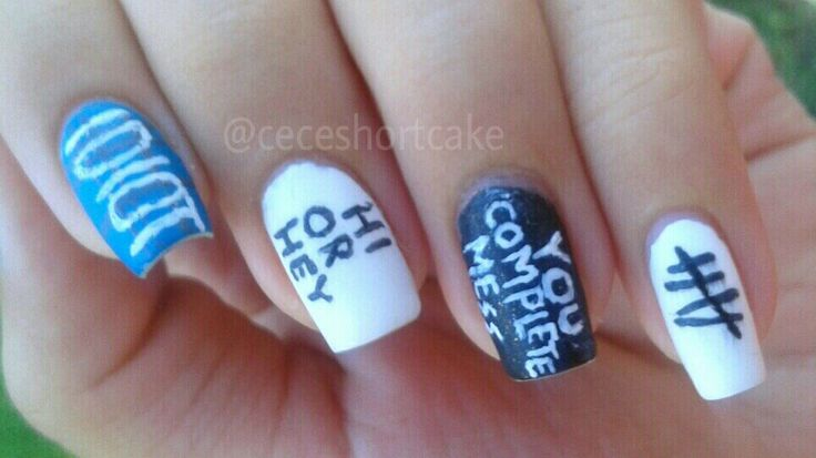 5 seconds of summer (5SOS) nails