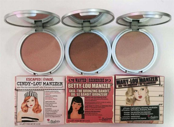 The Balm Mary Lou Manizer Highlighter Face & Eyes powder Shimmer & Shadow 0.3 oz #theBalm
