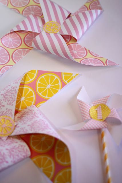 Pink Lemonade Birthday Party Pinwheels