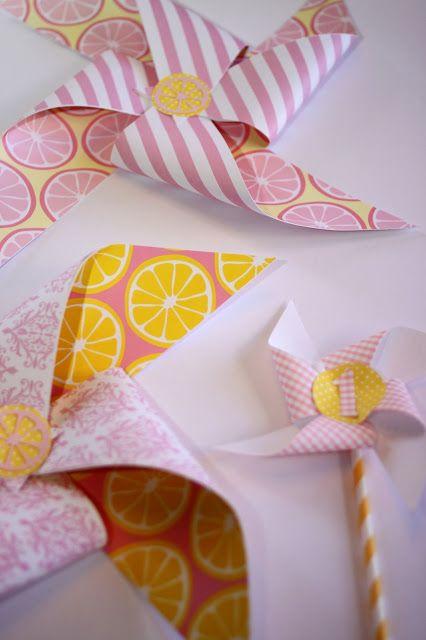 Pink Lemonade Birthday Party Pinwheels