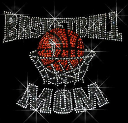 Basketball Mom Rhinestone Transfer Rhinestone by RegalRhinestones, $8.95