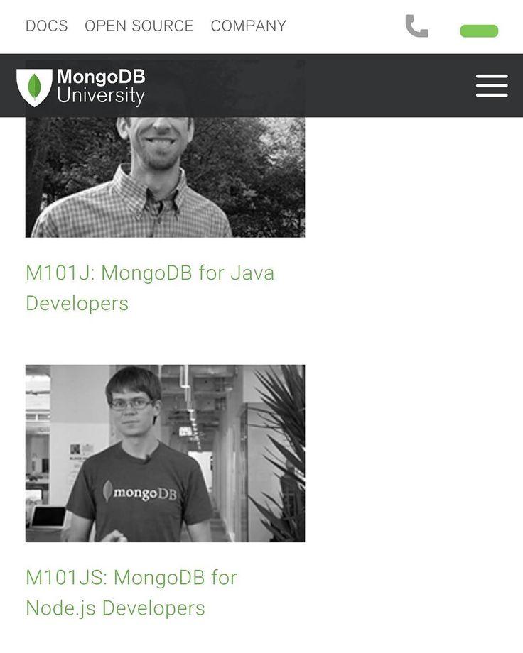 . Sign up in the free MongoDB uni choose your course and get started .. I've chosen M101JS: MongoDB for Node.js Developers.  سجل في اكاديمية قاعدة البيانات المونجو مجانا من خلال الرابط في الاسفل.  ______________  Source: university.mongodb.com  ______________  #Android #iOS #Apple #Samsung #APK  #App #Bahrain #Programming #androidworldbh #developerbh #webdeveloper #nodejs #atom #developers #materialdesign #website #css #php #html5 #javascript #jquery #ajax #dymamic #design #bahrain #manama…