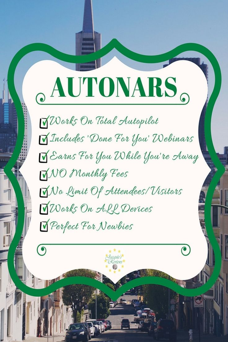 Autonars is the first software that puts your webinar profits on autopilot with ease, while avoiding expensive monthly fees altogether. Includes 'done for you' profitable webinars. Webinars simply convert higher, lead to more engagement, sales and profits. With these 'done for you' webinars, you can start building a list & earning affiliate commissions right now, without having to do any work! Bonus: Group Traffic Profits #MakeMoneyWithWebinars #WebinarSolutions