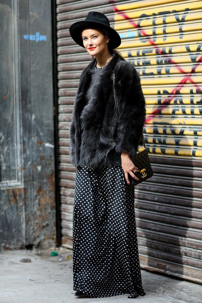 Love it when we can look chic without worrying about our hair.                  Image Source: IMAXTREE / Vi...