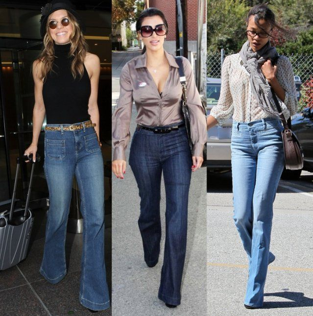 denim fashions | High Waist Jeans Fashion: The 70s-style high waist jeans are back on ...