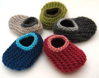 Ontwerp uw eigen wol Baby Slippers maten 0 tot 18 door HandKnitHugs