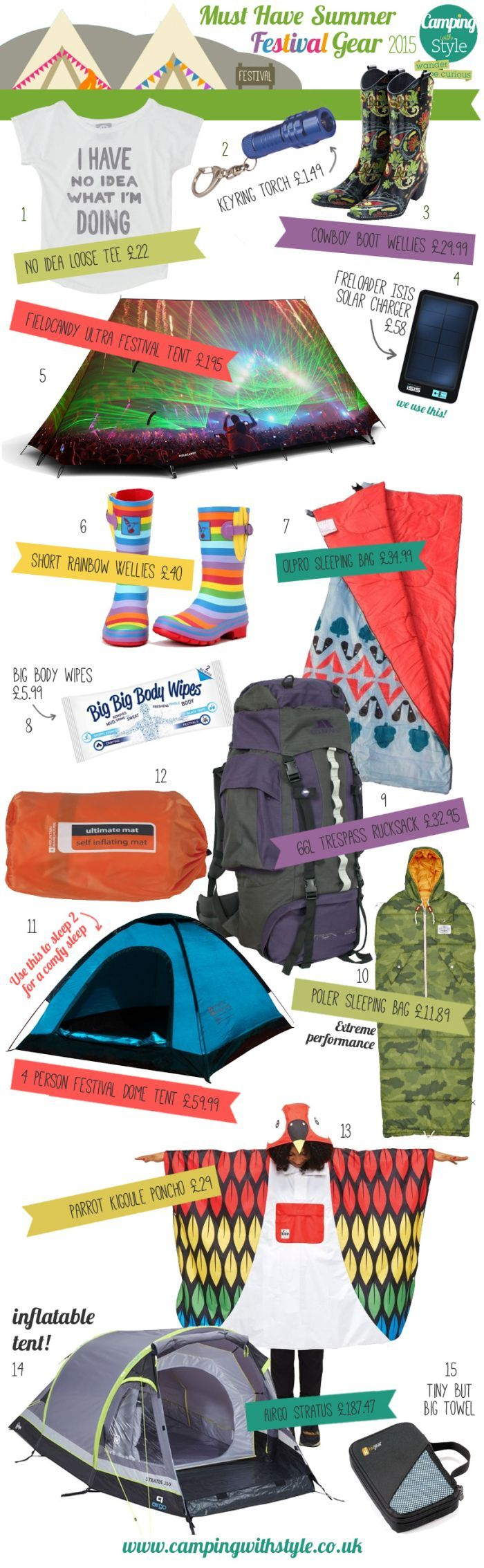 Must Have Summer Festival Camping Gear 2015