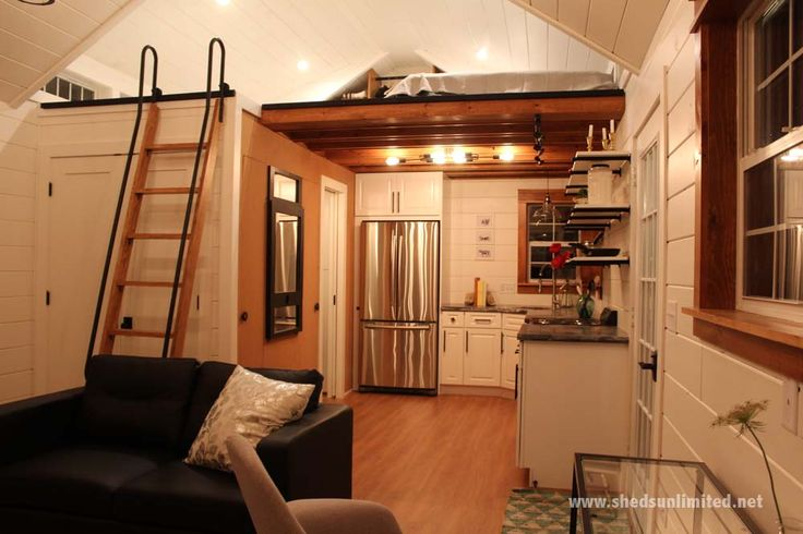 Features of this Tiny Home:Sleeping Loft with Dormer and Ladder Knotty Pine Interior Finish with Simulated Hardwood Floor Tiny Home Kitchen the Base Cabinets, open shelving and Cement Countertop 5x8 Bathroom with Shower, toilet, sink vanity and exhaust fan Large closet for Washer and Dryer Ductless heating and cooling unit Tiny Home Electrical package -Main Floor: 17 outlets - 8 interior lights - 2 exterior lights - 4 switches - breaker box - appliance hookup Note: Appliances not included…