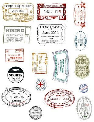 Passport stamps. With printable for passport.