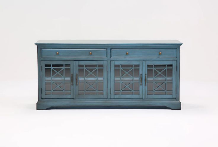 Annabelle Blue 70 Inch Tv Console - Living Spaces