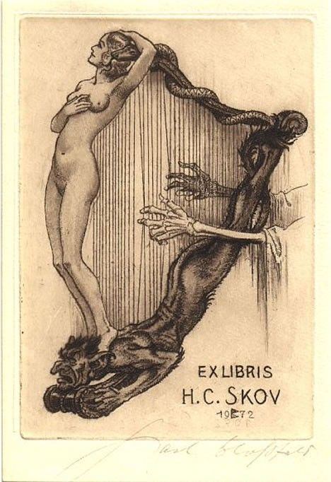 Ex Libris: Art illustrations by H.C. Skov