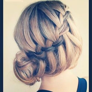 Braid inspirstion  #braid #waterfallbraidedbun #updo #waterfallbraid #instabraid #insta #cute #inspiration #inspirasjon #summer #picoftheday...