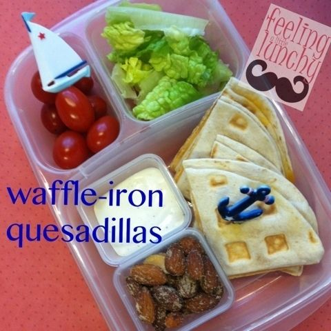 Waffle Quesadillas | Community Post: 25 Things You Didn't Know You Could Cook On A Waffle Iron