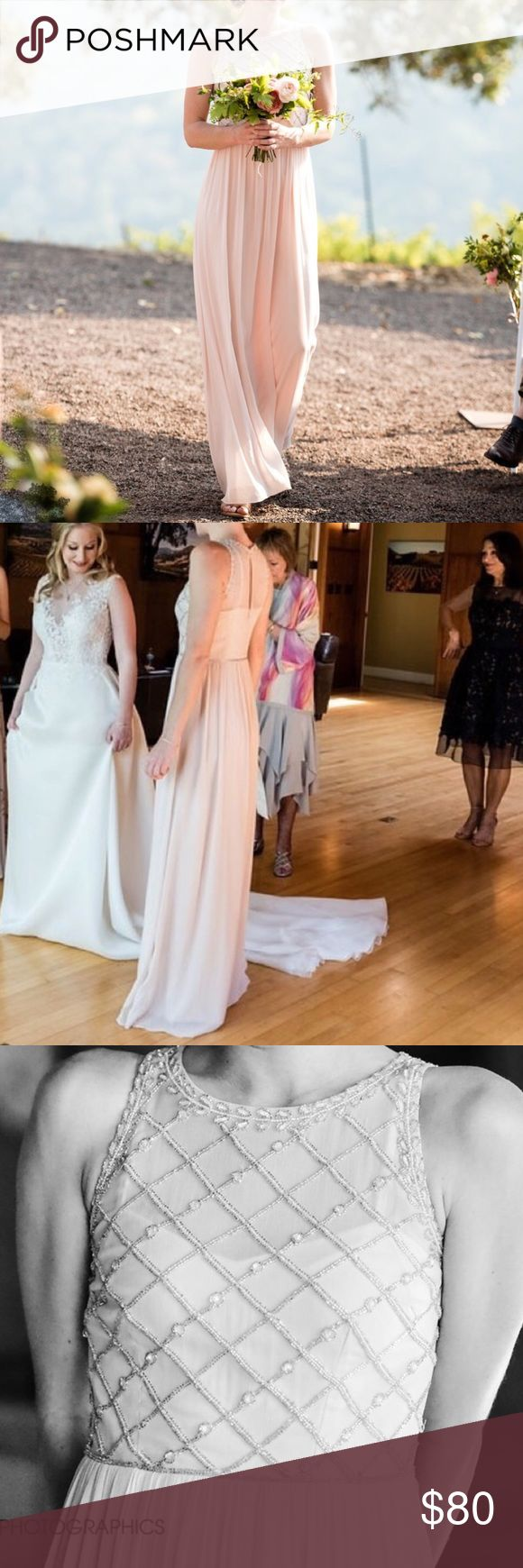 Spotted while shopping on Poshmark: Adrianna Papell Bridesmaid Dress/ Blush Gown! #poshmark #fashion #shopping #style #Adrianna Papell #Dresses & Skirts