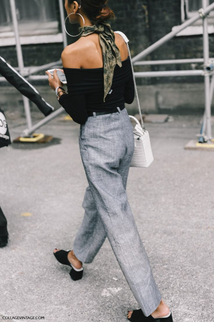 "emfile: "" Follow her here —-> https://www.instagram.com/trishnarawr/ www.accentsofgold.com Street Style + LFW @emcik """