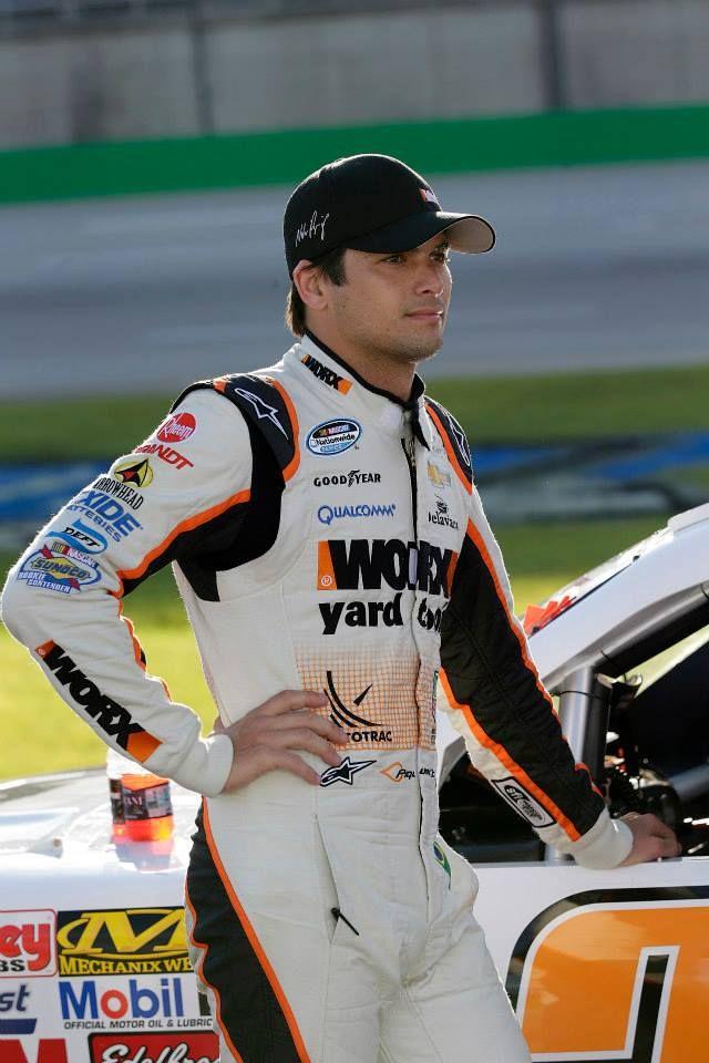 Nelson Piquet Jr. NASCAR Nationwide Series driver. Brazilian. Great driver needs a better car.