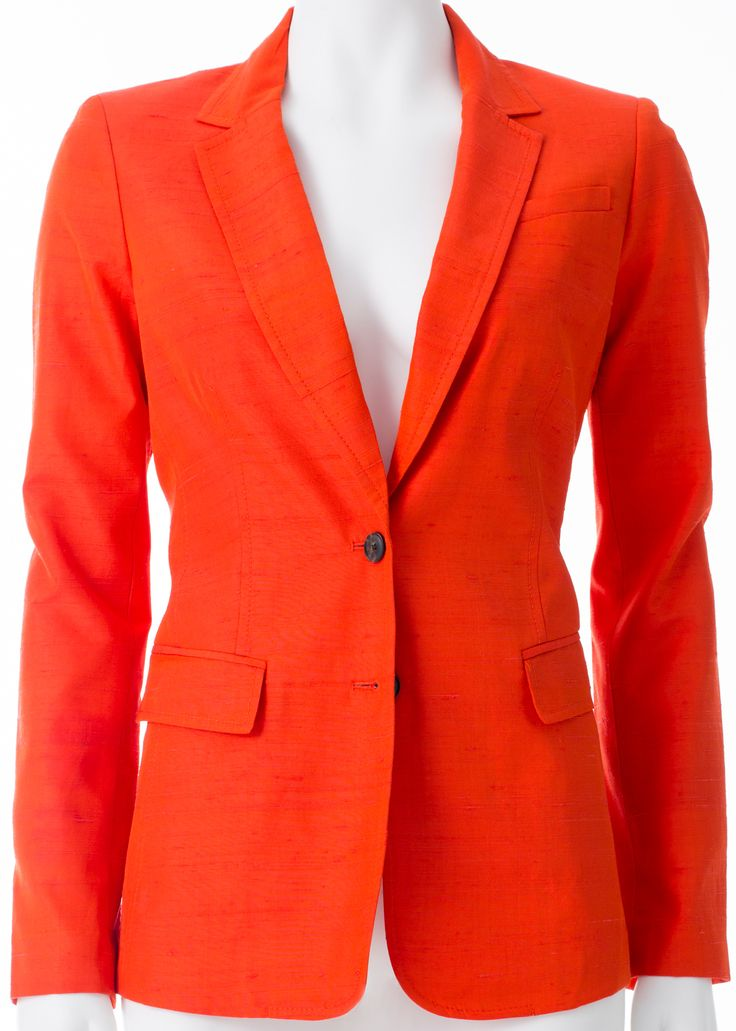 Veston en soie orange, BANANA REPUBLIC, 215$ * Veston en soie orange, BANANA REPUBLIC, $215