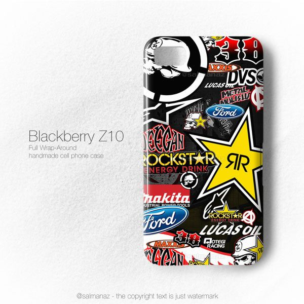 Brian Deegan Stickerbomb Metal Mulisha Rockstar Blackberry Z10 Case