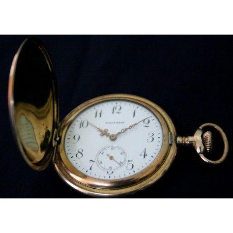 Reloj antiguo de bolsillo, saboneta de origen americano de los años 1920 y funcionando.