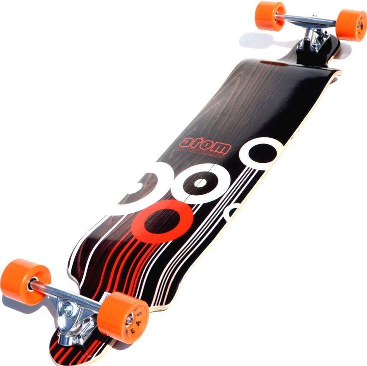 41-Inch Mapple Laminated Drop Deck Longboarding Outdoor Sports Equipment New #DropDeckLongboard