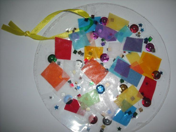 Preschool Suncatcher Craft