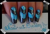 blue foil overlayPastel Cerveza Tennis, Girls Generation, Nailart, Nails Design, Polish Nails, Nail Designs, Amazing Nails Art, Design Tips, Nail Art