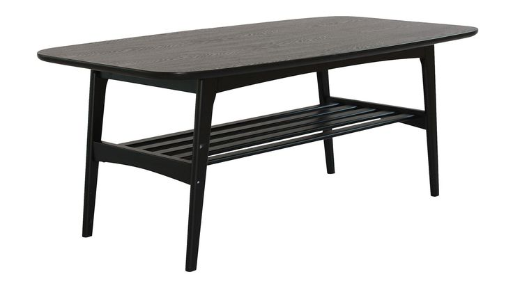 Svart Älgen soffbord. Bord, vardagsrum, trä, askfaner. http://sweef.se/bord/155-algen-soffbord-110x60cm.html#/farg-svart