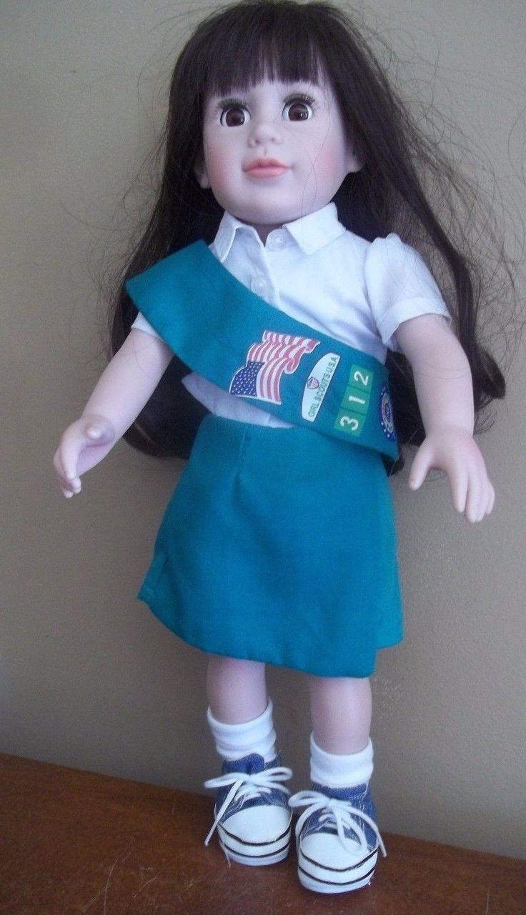 "18"" GIRL SCOUTs uniform LATINA arab ASIAN indian DOLL adora charisma GIFT   eBay"