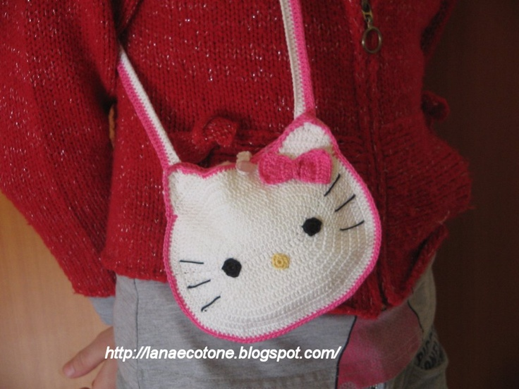 Crochet Purse Patterns Hello Kitty : HK Shoulder Bag Crochet Hello Kitty