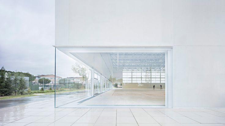 Francisco de Vitoria University Sports Complex, Pozuelo, Madrid, Spain, by Alberto Campo Baeza