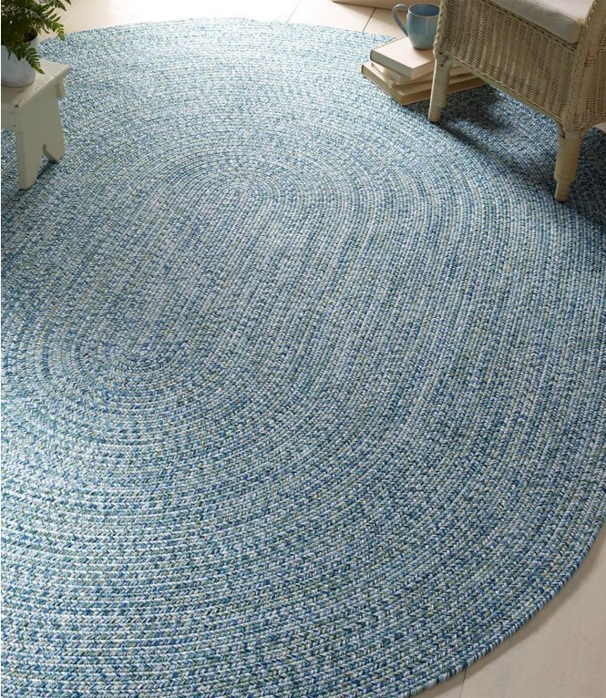 All Weather Braided Rug Concentric Pattern Oval Oval Rugs