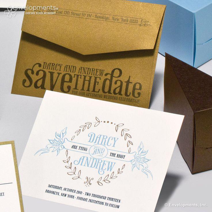 save the date wedding stationery uk%0A Darcy  u     Andrew  Envelopments Wedding Invitation