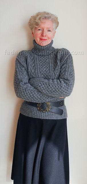 Cable Sweater pattern by Debbie Bliss