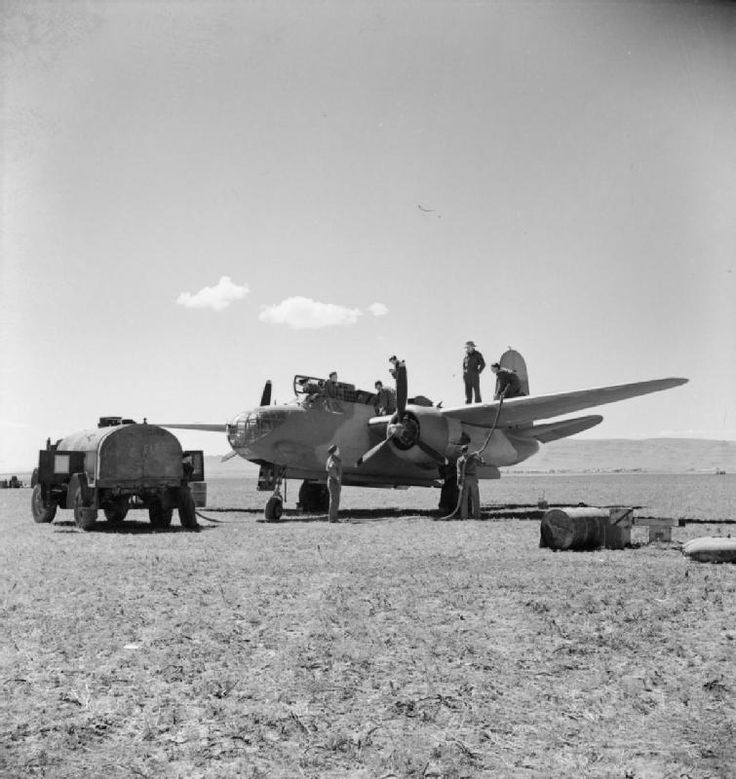 Operation Torch - the allied invasion of North Africa, November 1942: RAF Boston at a forward airstrip in Algeria.