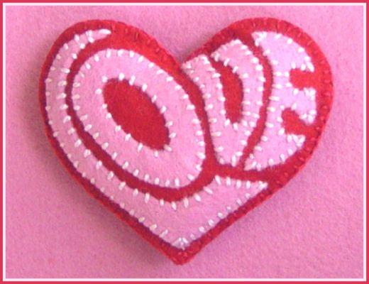 LOVE felt heart