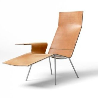 Maarten Van Severen, Leather Lounge Chair LL04 for Pastoe, 2004.