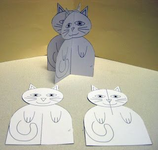Cats!  What child doesn't like a soft kitty cat purring on his lap? Well I'm sure there are some out there, but not my storytime kids! They loved the cat storytime.: