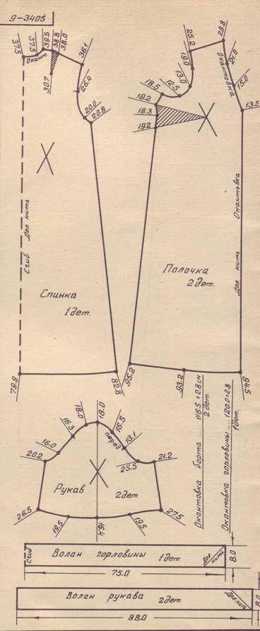выкройка пеньюара, р.48