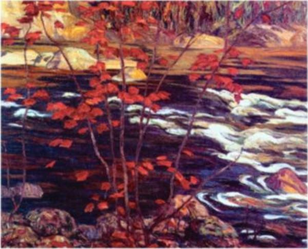 """A. Y. Jackson  Canadian, Member of The Group of Seven  1882 - 1974  """"The Red Maple, 1914"""""""